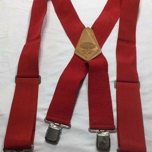 Nicholas Accessories - Nicholas Mens Suspenders Red